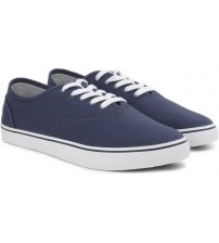 United Colors of Benetton Men Canvas Sneakers  (Navy, White)
