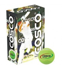 Cosco cricket ( pack of 6) Tennis Ball - Size: 5, Diameter: 2.5 cm  (Pack of 6, Green)