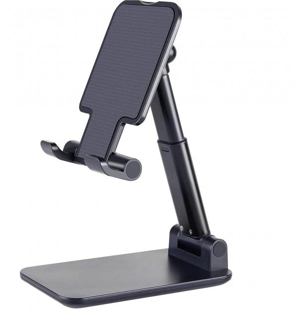 Battery Guru Folding Desktop Phone Stand (Black)