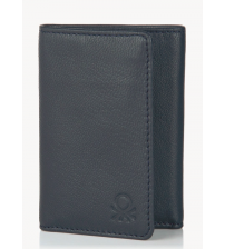 United Colors of Benetton Navy Blue Leather Wallet