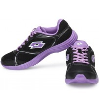 Lotto RUNLITE W Running Shoes  (Black, Purple)