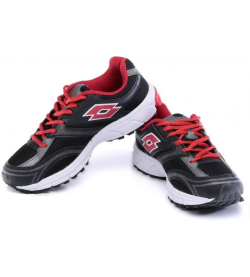 Lotto Zenith V W Running Shoes  (Black, Red)