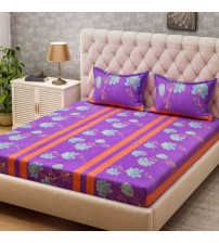 Bombay Dyeing Cotton Printed Double Bedsheet  (1 Double Bedsheet, 2 Pillow Covers, Multicolor)