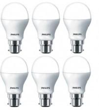 Philips 9 W B22 LED Bulb  (White, Pack of 3)