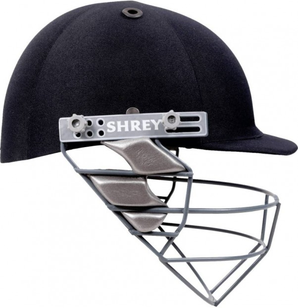 Shrey Basic Mild Steel Visor Cricket Helmet - L  (Navy Blue)